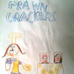 Hunter's Artwork for Prawn Crackers