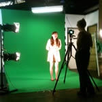 Jayde on green screen